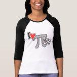 Mim dia do Pi do coração - presente do roupa do Pi Camisetas