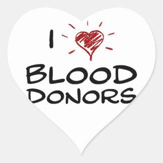 Mim doadores de sangue do coração adesivos de corações