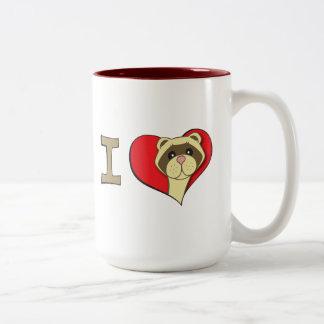 Mim doninhas do coração caneca de café em dois tons
