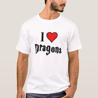 Mim dragões do coração camiseta