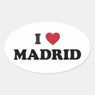 Mim espanha de Madrid do coração Adesivo Oval