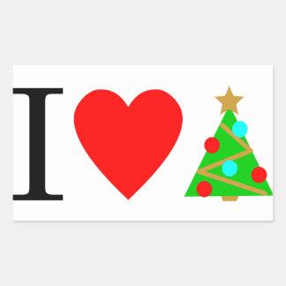 Mim etiqueta do Natal do coração