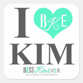 Mim etiquetas de Kim do coração (uma folha lrg 20 Adesivo Quadrado