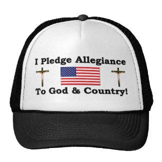 Mim fidelidade de Plege ao deus & ao país Boné
