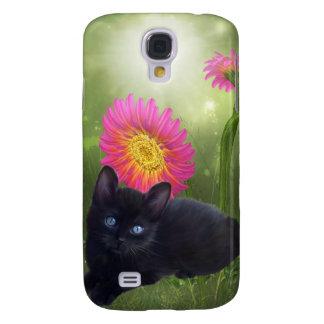 mim flores do gato dos animais capas personalizadas samsung galaxy s4