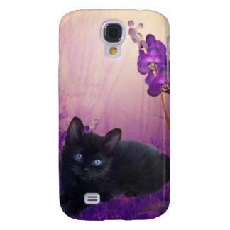 mim flores do gato dos animais galaxy s4 covers