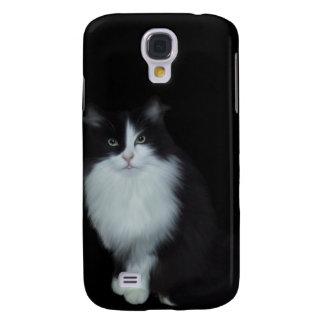 mim gato branco preto dos animais galaxy s4 cases