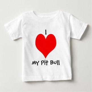 Mim *heart* meu t-shirt do bebê do pitbull camiseta para bebê