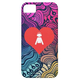 Mim ícone dos meninos do coração capa barely there para iPhone 5
