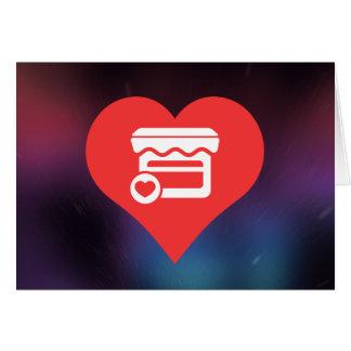 Mim ícone dos supermercados do coração cartão comemorativo