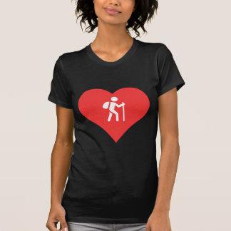 Mim ícone trekking do coração t-shirts