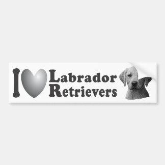 Mim imagem dos Retrievers de Labrador w/Stylized d Adesivo Para Carro