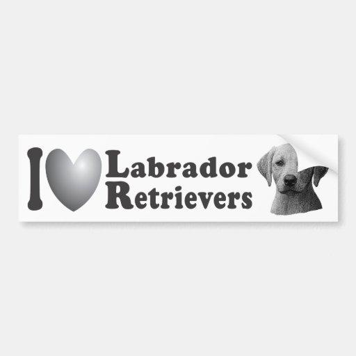 Mim imagem dos Retrievers de Labrador w/Stylized d Adesivo