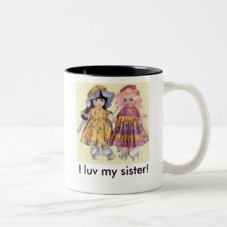 Mim luv meu copo da irmã caneca dois tons
