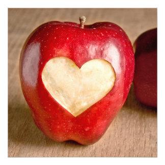 Mim maçãs do coração impressão de foto