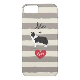 Mim mais a capa de telefone bonito do amor igual