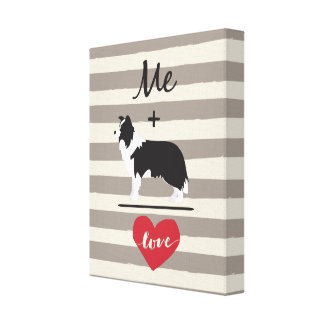 Mim mais canvas iguais do amor de border collie
