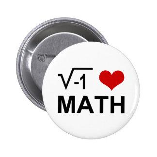 Mim matemática <3 bóton redondo 5.08cm