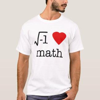 mim matemática do coração camiseta