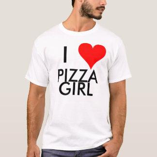 Mim menina da pizza do coração camiseta