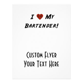 Mim ♥ meu barman! modelo de panfleto