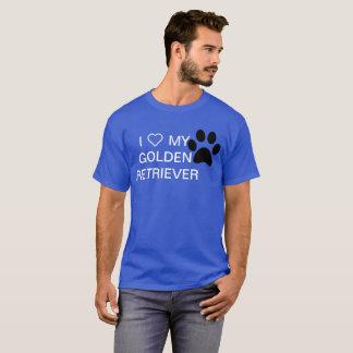 Mim ❤ minha camisa do golden retriever