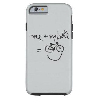 mim & minhas bicicleta = felicidade capa tough para iPhone 6