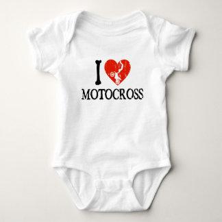 Mim motocross do coração body para bebê