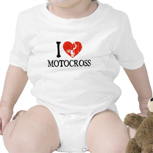 Mim motocross do coração macacãozinho para bebê
