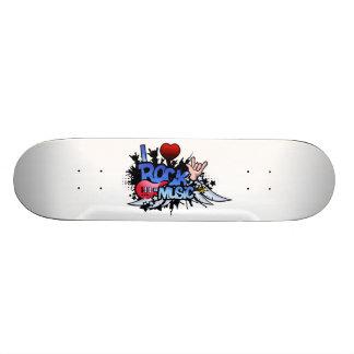Mim música rock do coração shape de skate 19,7cm