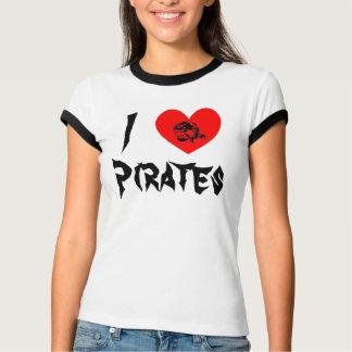 Mim piratas do coração camisetas