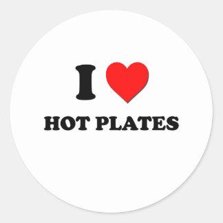 Mim placas quentes do coração adesivo em formato redondo