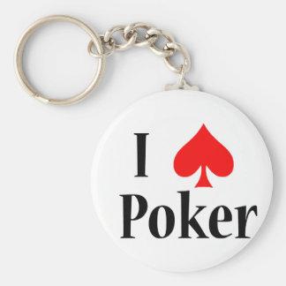 Mim póquer do coração chaveiro