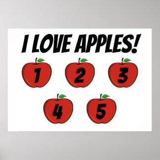 Mim poster das maçãs de amor (contagem)