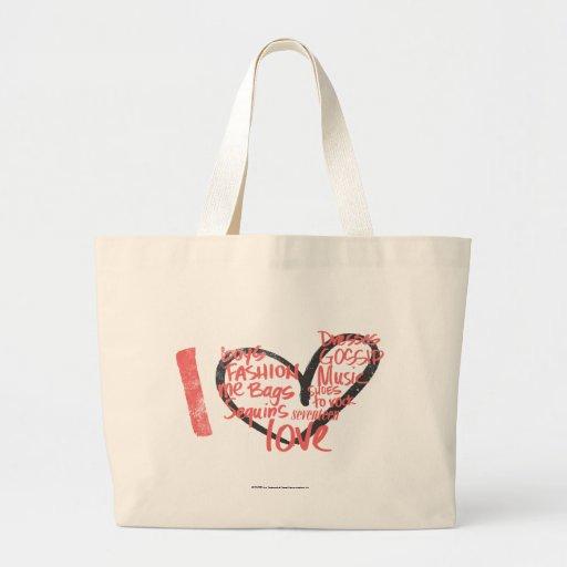 Mim rosa dos grafites do coração bolsa para compra