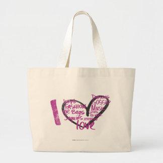Mim roxo dos grafites do coração bolsas para compras