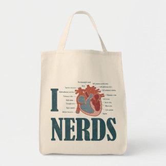 Mim sacola dos NERD do coração Sacola Tote De Mercado