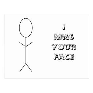 Mim senhorita Seu Cara Cartão