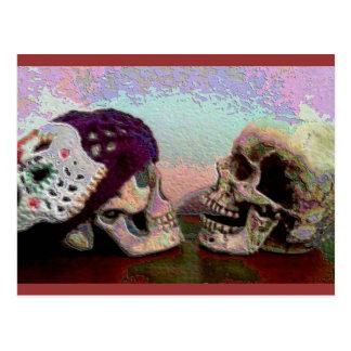 Mim senhorita Seu Cara Crânio Cartão