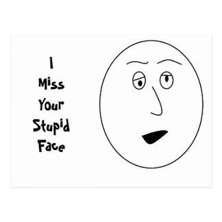 Mim senhorita Seu Estúpido Cara Cartão