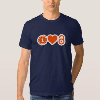 mim T do acesso aberto do ♥ T-shirts