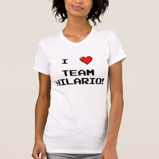 """""""mim T do v-pescoço de Hilario da equipe do T-shirts"""