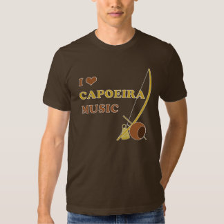 Mim t-shirt da música de Capoeira do coração