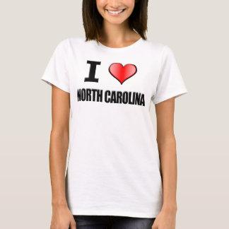 Mim t-shirt de North Carolina do ♥ - mulheres Camiseta