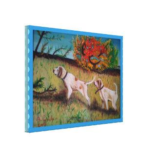 mim tela devido da SU do olio do curiosi do cani Impressão Em Tela Canvas
