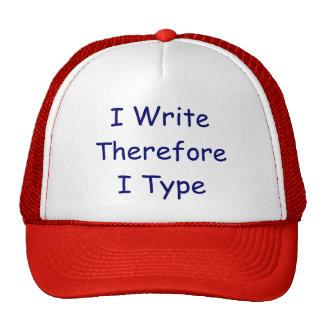Mim tipo de WriteThereforeI Bonés