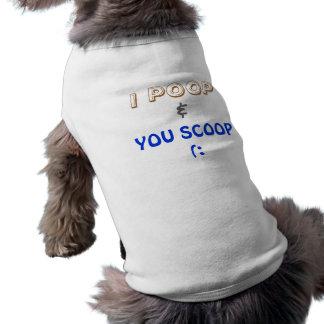 MIM TOMBADILHO QUE VOCÊ ESCAVA (: camiseta de cão