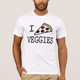 Mim vegetarianos da pizza camiseta