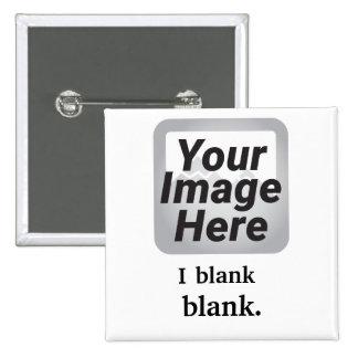 Mim [verbo] [substantivo] modelo quadrado do botão bóton quadrado 5.08cm