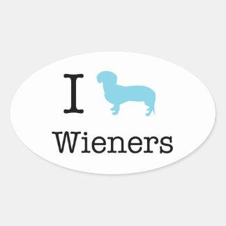 Mim Wieners do coração Adesivo Oval